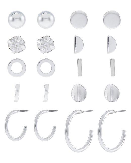 Accessorize - Metallic 10x Silver Stud Earrings Pack - Lyst