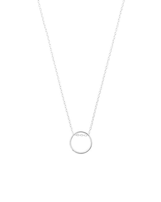 Accessorize - Metallic Sterling Silver Perfect Circle Necklace - Lyst