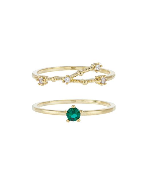 Accessorize - Metallic May Birthstone Stacking Ring Set - Lyst