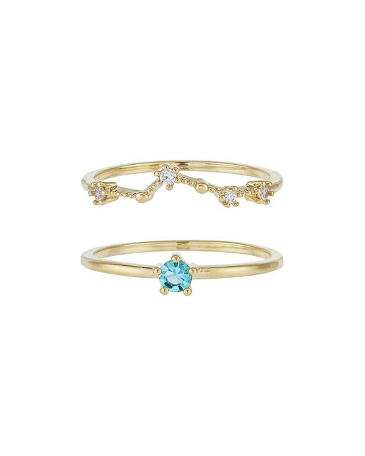 Accessorize - Metallic March Birthstone Stacking Ring Set - Lyst