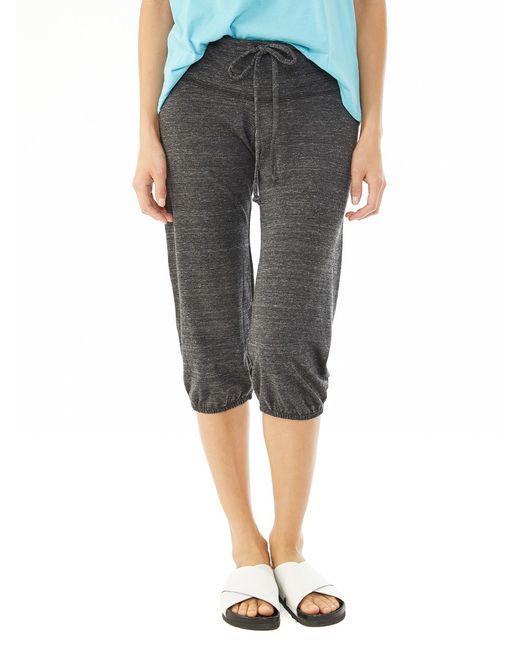 Alternative Apparel | Black Eco-jersey Crop Pants | Lyst