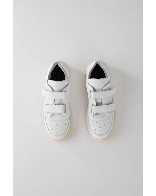 Acne - Velcro Sneakers white - Lyst
