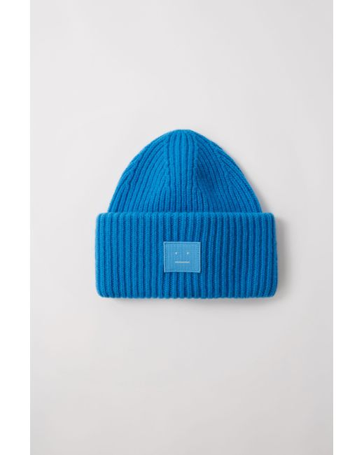 Acne Pansy N Face Aqua Blue Oversized Beanie in Blue for Men - Lyst 39918b949108