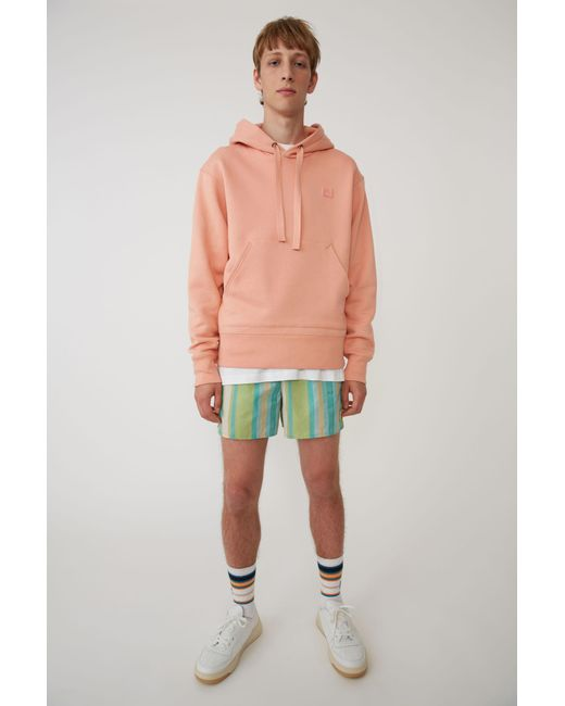 Acne - Hooded Sweatshirt pale Pink for Men - Lyst