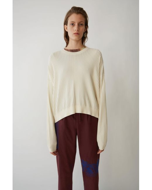 Acne - Loose Fit Sweater off White - Lyst