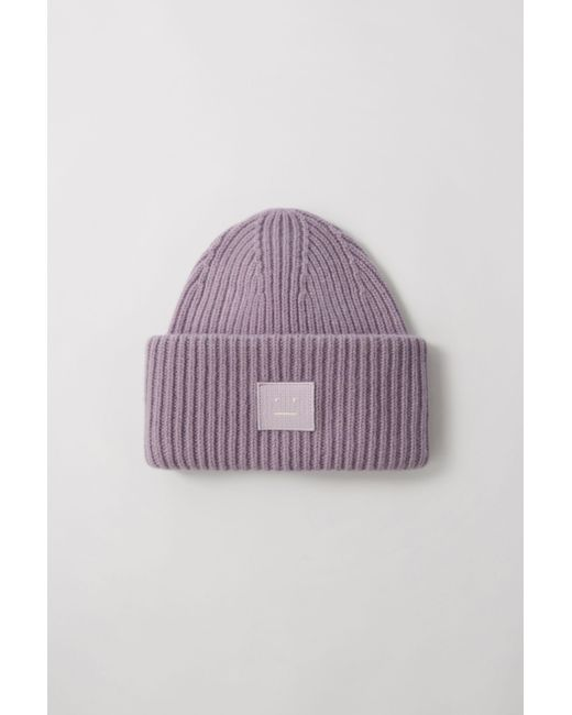 Acne - Pansy N Face Mauve Purple Oversized Beanie for Men - Lyst