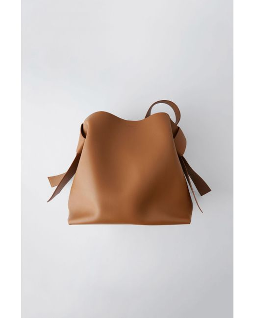 Acne - Large Leather Handbag brown - Lyst