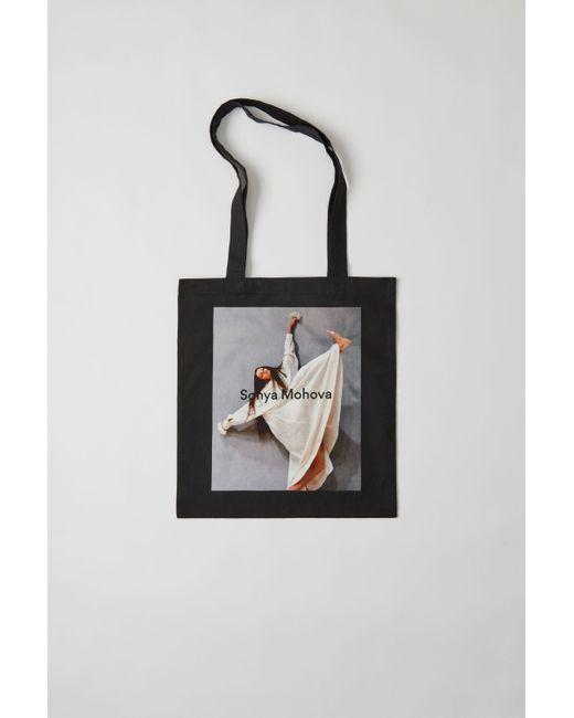 Acne - Sp-ux-bags000001 Black Printed Tote Bag - Lyst