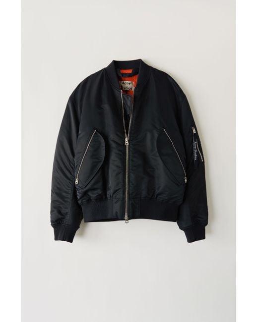af17128b750 Acne Studios Makio Black Bomber Jacket in Black for Men - Save 28 ...