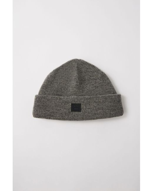 Acne - Gray Fa-ux-hats000018 Charcoal Melange Face Beanie for Men - Lyst ... 8485011bbd41