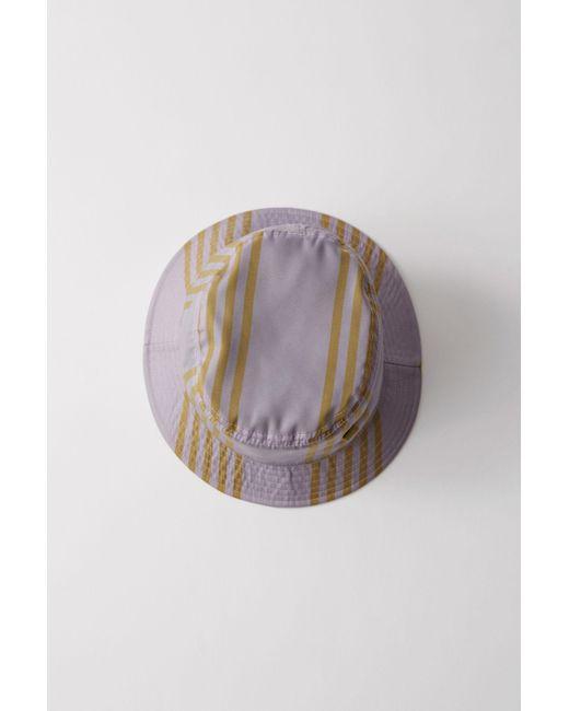 Acne - Multicolor Buk Face Tech Str Purple/khaki Bucket Hat for Men - Lyst