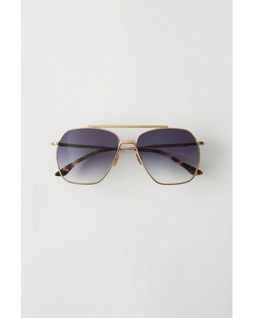 e38c590f9dc Lyst - Acne Studios Anteom Gold black Degrade Metal Frame Sunglasses ...