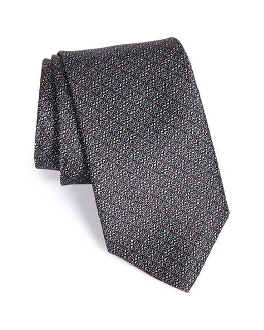 Robert Talbott | Gray Geometric Silk Tie for Men | Lyst