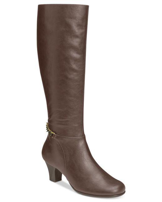 Aerosoles | Brown Margarita Tall Dress Boots | Lyst