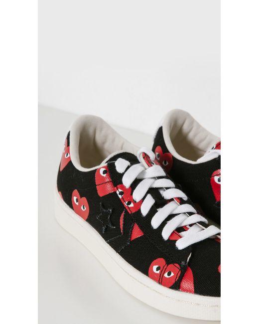 Comme des Garçons | Red Women's Heart-print Pro Sneakers | Lyst