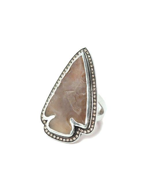 Pamela Love | Natural Jasper Diamond Ring - Size 7 | Lyst