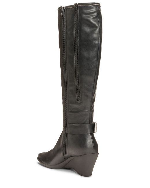 Aerosoles | Black Wonderful Faux Leather Boots | Lyst
