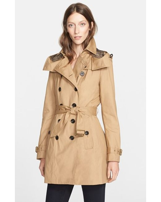 Burberry Brit | Natural 'reymoore' Trench Coat With Detachable Hood & Liner | Lyst