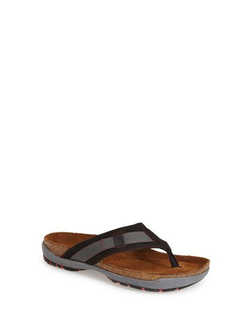 Naot | Black 'panorama' Flip Flop for Men | Lyst