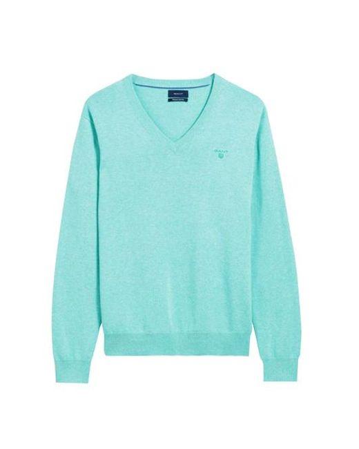Gant - Green Pullover V-hals for Men - Lyst
