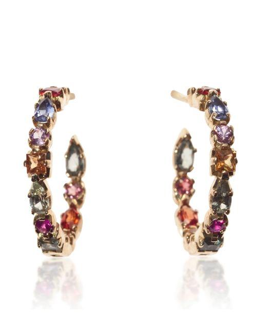 Emily & Ashley | Multicolor 18k Sapphire Hoop Earrings | Lyst