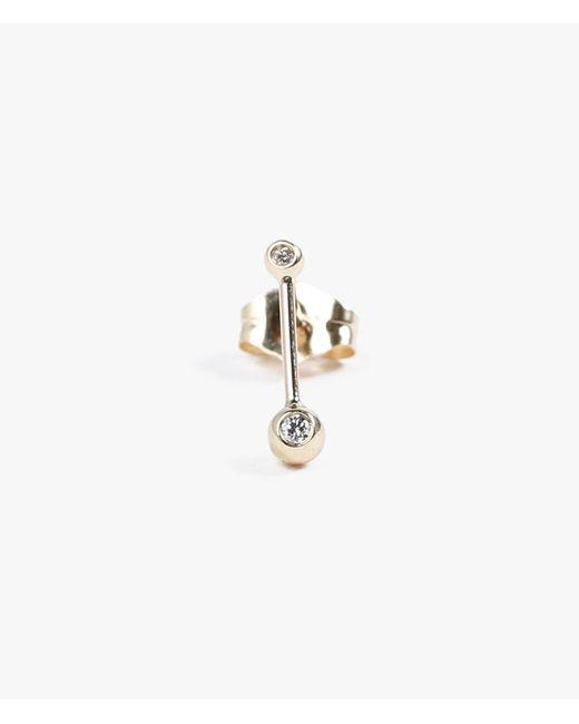 Jennie Kwon | Metallic Diamond Ball Earring - Single | Lyst