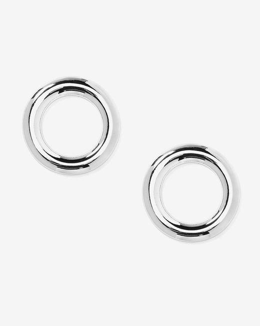 Addition Elle - Metallic Big Cutout Disc Earrings - Lyst
