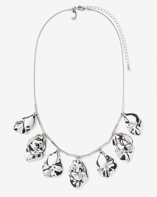 Addition Elle - Metallic Organic Shape Dangling Necklace - Lyst