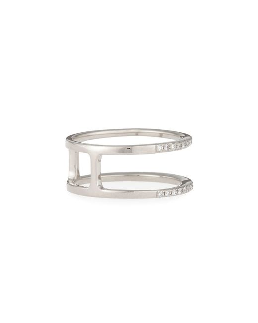 EF Collection | Metallic Diamond Double Spiral Ring | Lyst
