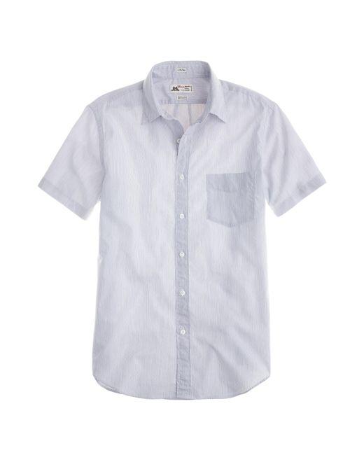Thomas mason short sleeve ludlow shirt in navy for Thomas mason dress shirts