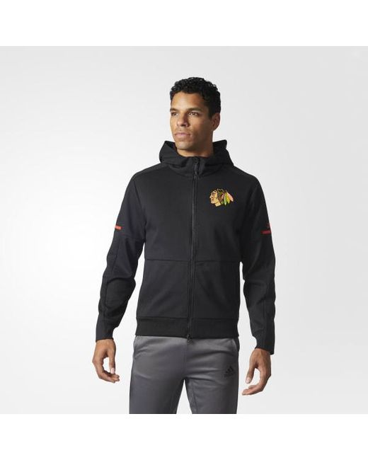 Adidas - Multicolor Blackhawks Pro Squad Id Hoodie for Men - Lyst