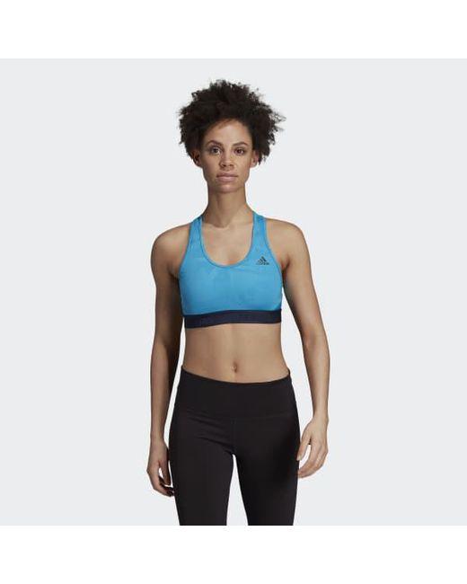 84201ac01c897 Lyst - Adidas Don t Rest Alphaskin Sport Bra in Blue