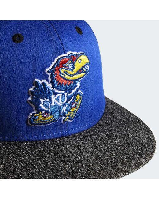c6caf8ed23a ... Adidas - Blue Jayhawks Flat Brim Hat for Men - Lyst ...