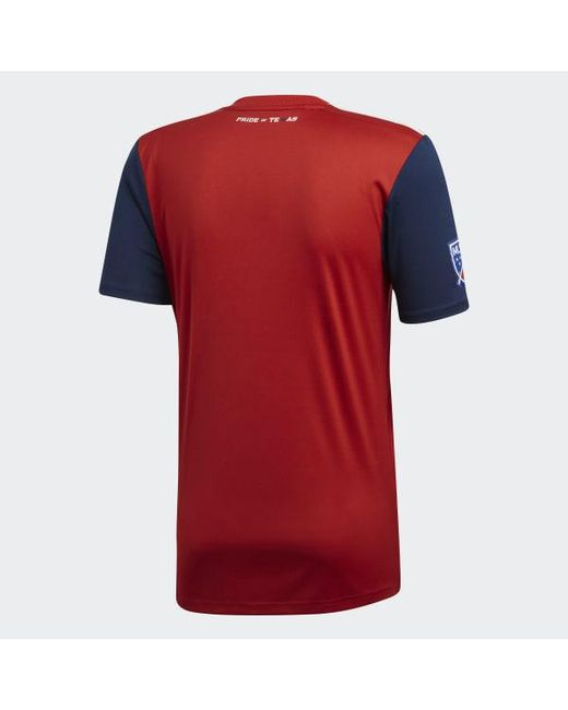092073faa ... Adidas - Red Fc Dallas Home Jersey for Men - Lyst ...