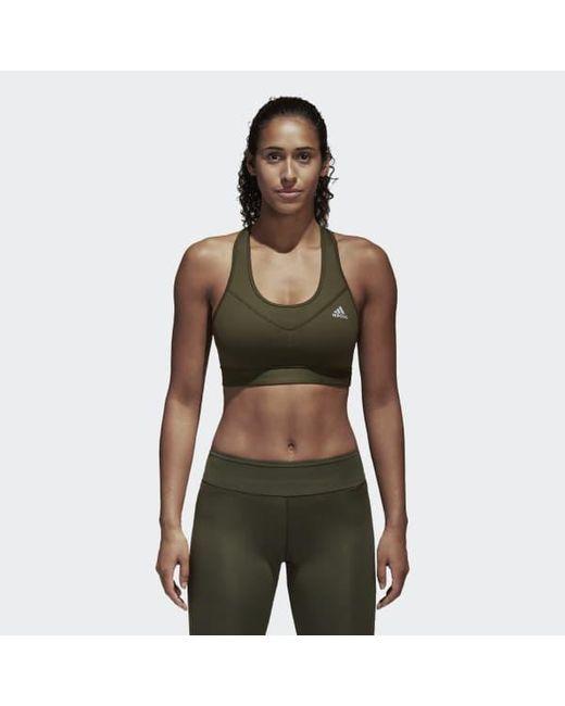 634b932b70274 Adidas - Green Techfit Bra - Lyst ...