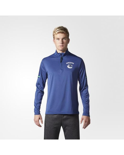 Adidas - Blue Canucks Authentic Pro Jacket for Men - Lyst