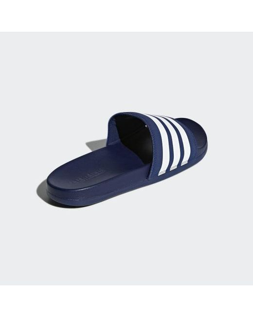 finest selection cf997 0f42f ... Adidas - Blue Adilette Cloudfoam Plus Stripes Slides - Lyst ...