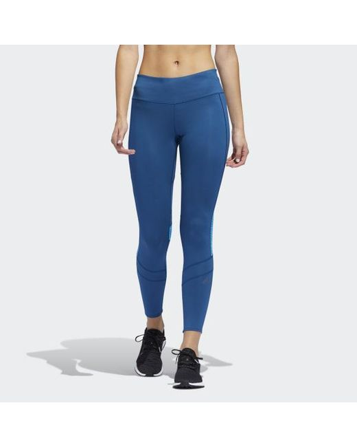 459fa680ee9 Adidas - Blue How We Do 7/8 Light Tights - Lyst ...