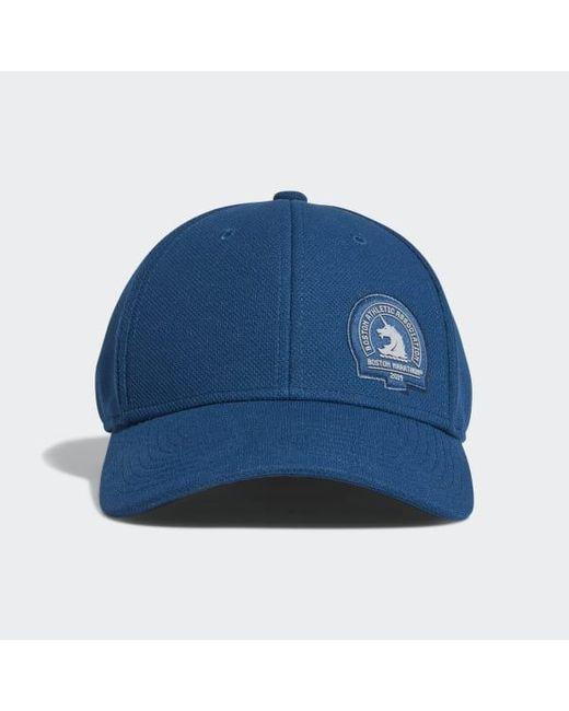 Adidas - Blue Boston Marathon® Rucker Stretch Fit Hat for Men - Lyst ... ded49ff217b8