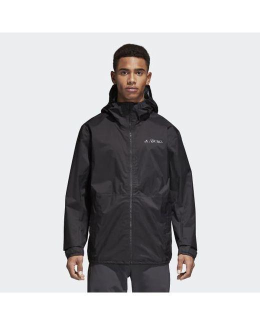 ec7ebd86c For In Climaproof Black Adidas Men Lyst Jacket tXSZOw