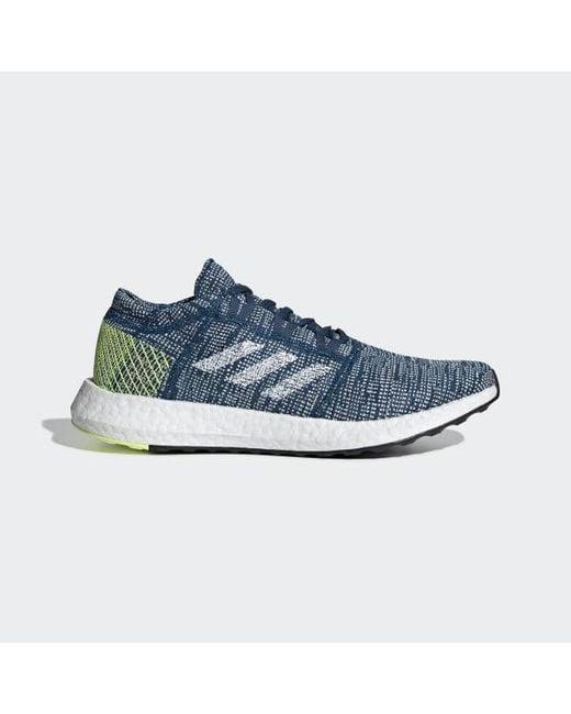 a7720644b Adidas - Blue Pureboost Go Shoes for Men - Lyst ...
