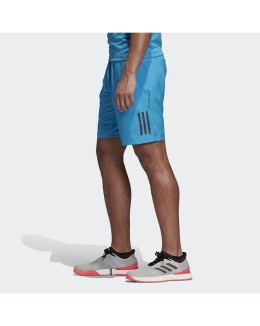 b71a4d23653 ... Adidas - Blue Club 3-stripes 9-inch Shorts for Men - Lyst ...