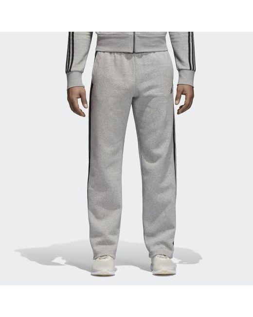 6258b8117 Adidas - Gray Essentials 3-stripes Fleece Pants for Men - Lyst ...
