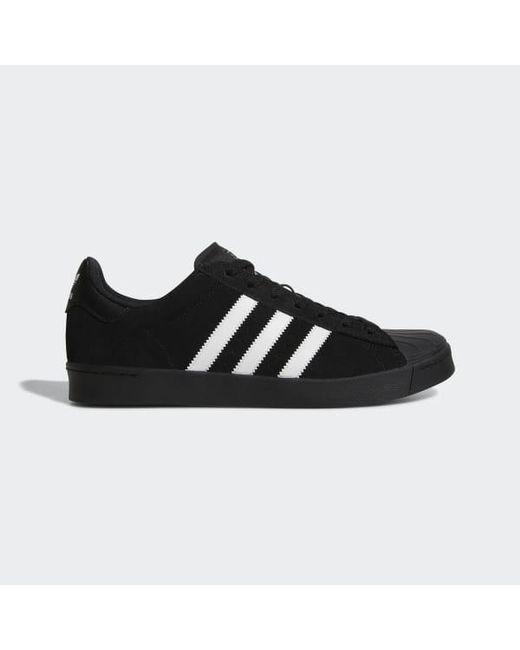 watch 6623f 2bc68 Adidas - Black Superstar Vulc Adv Shoes for Men - Lyst ...