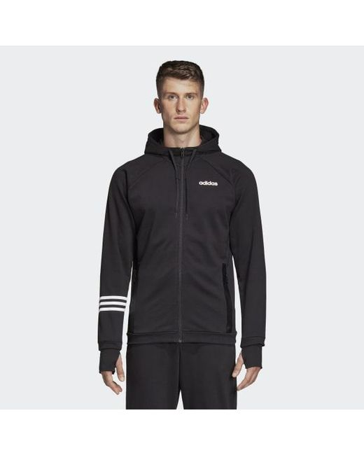35c487948771 Adidas - Black Essentials Motion Pack Track Jacket for Men - Lyst ...