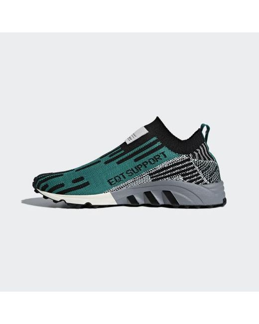buy popular 64651 d83ee ... Adidas - Black Eqt Support Sk Primeknit Shoes for Men - Lyst ...