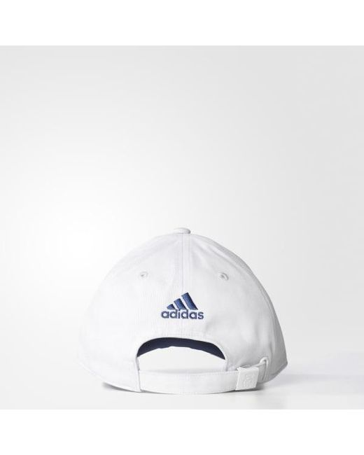 ... Adidas - White Real Madrid Home 3-stripes Hat for Men - Lyst ... c0d678bce2bd