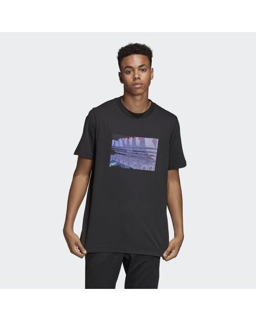 82481811c6e8 Adidas - Black 3d Trefoil Tee for Men - Lyst ...