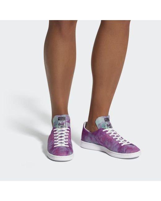 e119d0b0a3238 ... Adidas - Orange Pharrell Williams Hu Holi Stan Smith Mc Shoes for Men -  Lyst ...