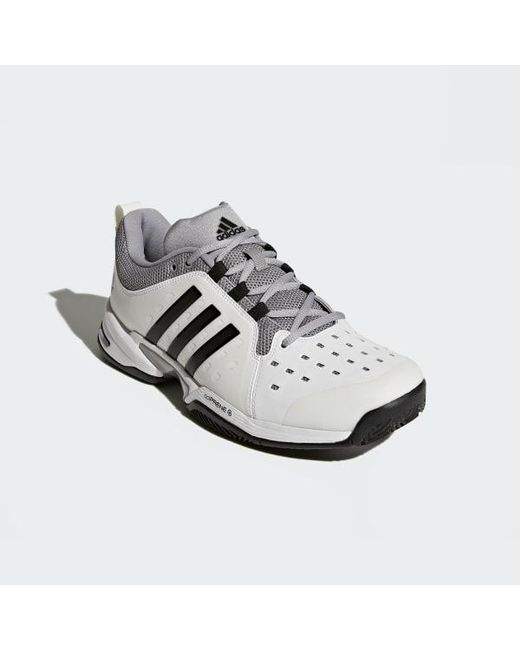 new style adeec 29526 ... Adidas - White Barricade Classic Wide 4e Shoes for Men - Lyst ...